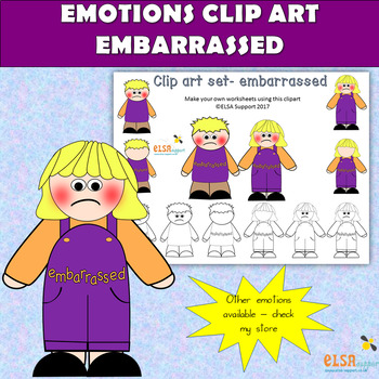 Emotions clip art -EMBARRASSED
