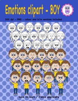 Emotions clipart - boy
