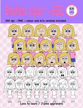 Emotions clipart - girl