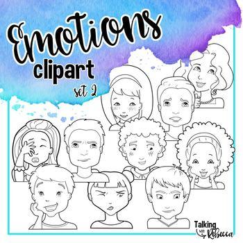 Emotions clipart set 2