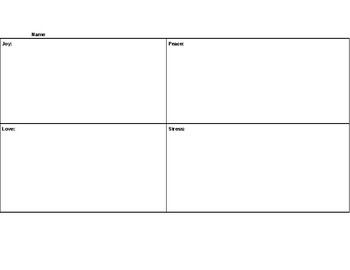 Emotions graphic organizer