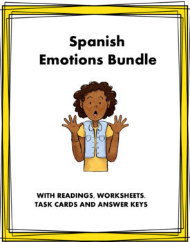 Emotions in Spanish Mini Bundle: 4 Resources at 30% off! (Emociones)