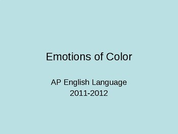 Emotions of Color PowerPoint
