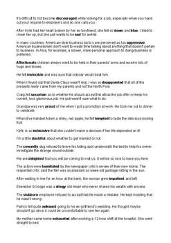 Emotions sentences
