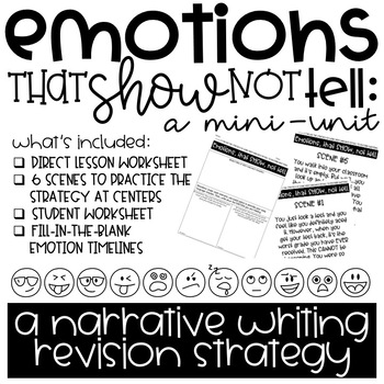 Emotions that Show, not Tell: A Narrative Writing Revision Strategy