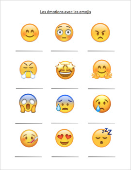 Emotions with Emojis! (French guided notes AND notes powerpoint)