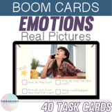 Emotions with Real Pictures   BOOM Cards™️ Speech Therapy Distance Learning
