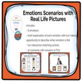 Emotions/Feelings with Scenarios Real Life Pictures- Boom Cards