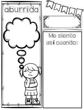 Emotions/Feelings Spanish Journal