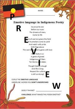 Emotive Language in Indigenous Poetry