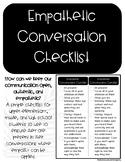 Empathetic Conversation Checklist