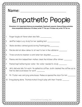Empathy Activities Pack