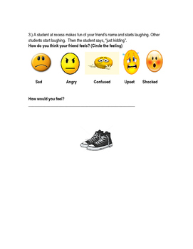 Empathy Activity - 1st Grade