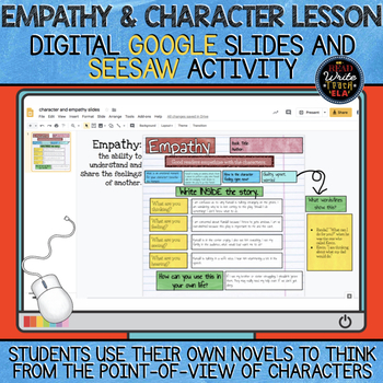Empathy & Character Lesson DIGITAL Google Slides and Seesaw Activity