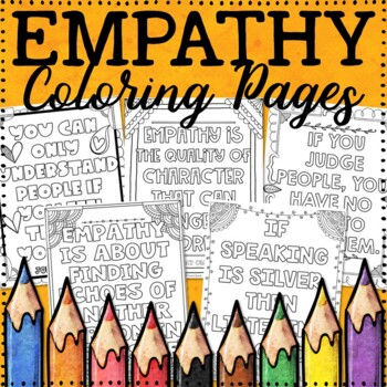 Distance Learning Coloring Pages | Empathy Coloring Pages ...