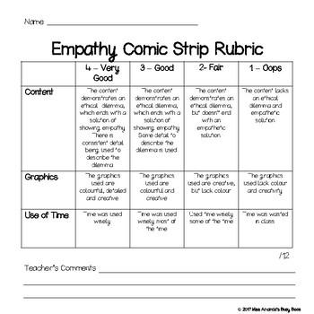 Empathy Comic Strip Rubric