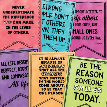 Empathy & Compassion Quotes (Bulletin Boards, Character Education, Class Decor)