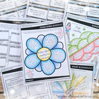 Empathy Lesson: Character Education (PowerPoint, Task Cards & Printables)