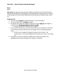 Empathy Monologue Writing Activity with Rubric