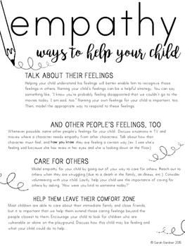 Empathy Parent Letter