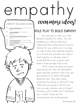 Empathy Parent Letter By Sarah Gardner Teachers Pay Teachers