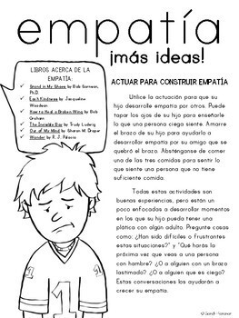 Empathy Parent Letter - SPANISH