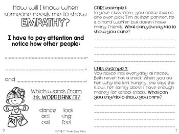 Empathy Student Book | PBIS Empathy | Empathy | Character Education
