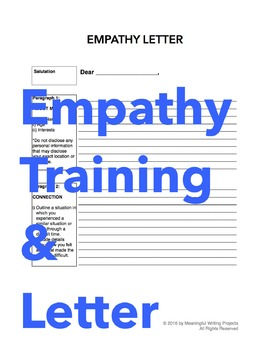 Empathy Training and Letter