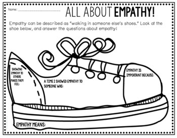 empathy worksheet freebie by counselorchelsey tpt. Black Bedroom Furniture Sets. Home Design Ideas