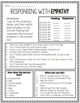 Empathy Worksheets - Free!