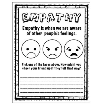 Empathy Worksheets Trauma Informed Feelings Workbook Tpt