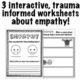 Empathy Worksheets: Trauma Informed Feelings Workbook