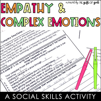 Empathy and Emotions Activities