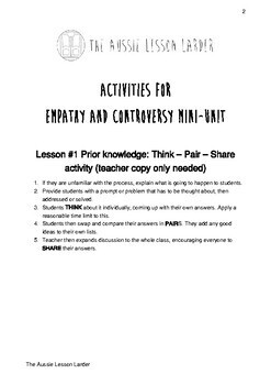 Empathy & controversy: activities to enhance student understanding
