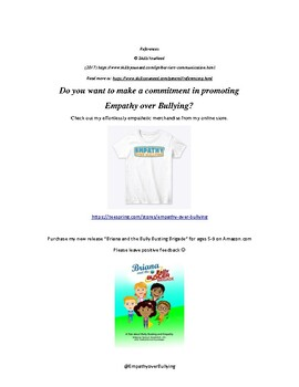 Empathy over Bullying: Empathy Building Worksheet