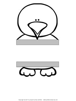 Emperor Penguin Craft *EDITABLE*