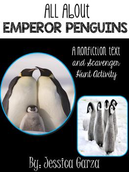 Emperor Penguin Non Fiction Unit AND Scavenger Hunt
