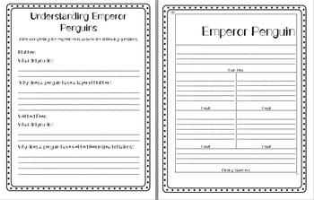 Emperor Penguin Nonfiction Common Core Comprehension Pack
