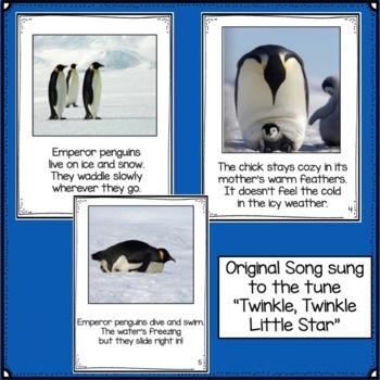 Penguins: Emperor Penguins Non-fiction Singable with Literacy Activities