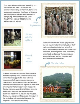 Emperor Qin and the Terracotta Soldiers {no prep}