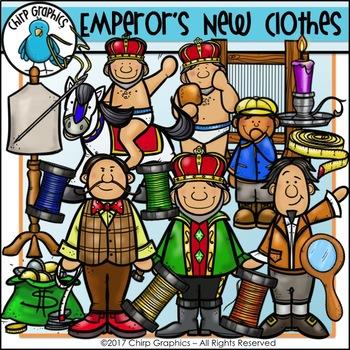 Emperor's New Clothes Clip Art Set - Chirp Graphics