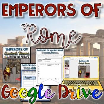 Emperors of Rome Digital Activity {Google Drive}