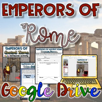 Emperors of Rome Digital Activity {Google Drive}