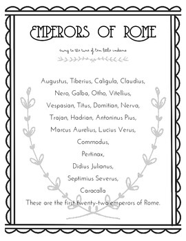 Emperors of Rome Song