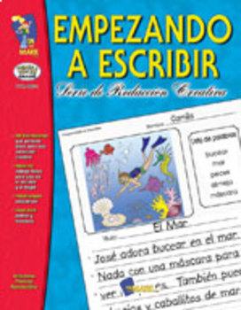 Empezando A Escribir Seire de Redaccion Creativa Spanish Grades 1-3