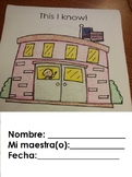 Empezando Kinder Spanish Activity (8pgs)