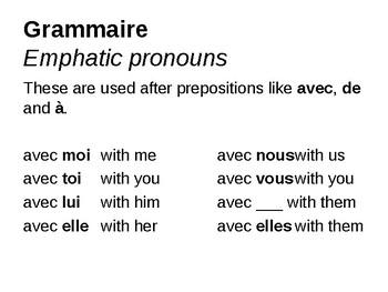 Emphatic Pronouns