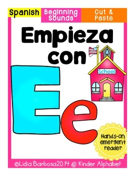 Empieza con Ee {Cut & Paste Emergent Reader}