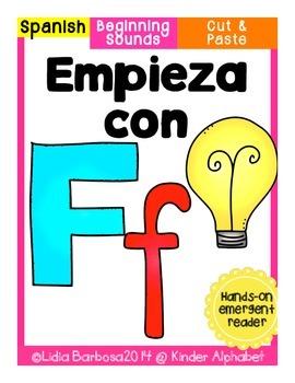 Empieza con Ff {Cut & Paste Emergent Reader}