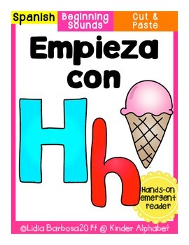 Empieza con Hh {Cut & Paste Emergent Reader}